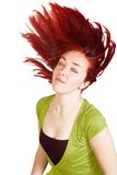 Redhead in green Royalty Free Stock Photography