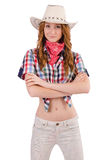 Redhead happy cowgirl Royalty Free Stock Photography