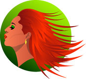 Redhead. Illustration of beautiful redhead woman Royalty Free Stock Photo