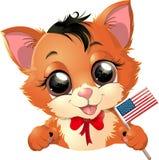 Happy Presidents Day kitten Royalty Free Stock Photo