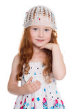 Redhead little girl Royalty Free Stock Photography