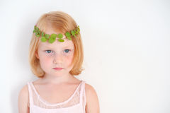 Redhead little girl is sad Stock Photography