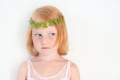 Redhead little girl is sad Royalty Free Stock Photos