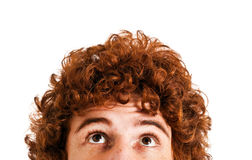Redhead looking up Royalty Free Stock Photography