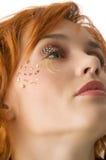 Redhead with makeup Stock Photos