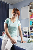 Redhead masseur Stock Image