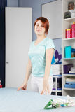 Redhead masseur Stock Photography