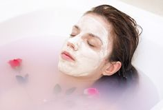 Rose face mask royalty free stock photography