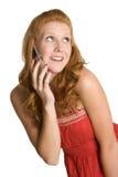 Redhead Phone Woman Stock Image
