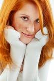 redhead piacevole fotografia stock
