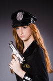Redhead police office Stock Image