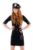 Redhead police officer Stock Images