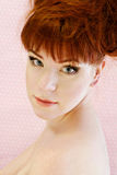 Redhead portrait. Portrait of redhead young woman with make up Stock Photos