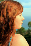 Redhead profile Royalty Free Stock Image