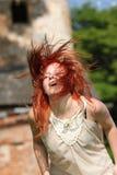 Redhead que consigue salvaje Imágenes de archivo libres de regalías