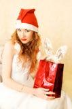 Redhead Santa helper Royalty Free Stock Images