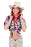 Redhead smiling  cowgirl Royalty Free Stock Photography