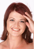 Redhead sonriente Foto de archivo libre de regalías