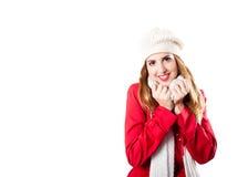 Redhead sonriente con en la cámara de mirada fría Imágenes de archivo libres de regalías