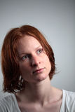 Redhead Stare Royalty Free Stock Photography
