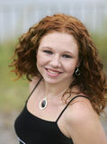 Redhead sveglio fotografia stock
