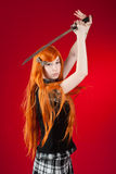 Redhead with sword Stock Image