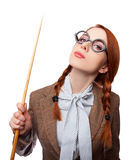 Redhead teacher Royalty Free Stock Images