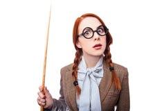 Redhead teacher Stock Photo