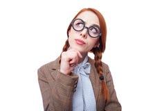 Redhead teacher Stock Image