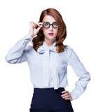 Redhead teacher Stock Images