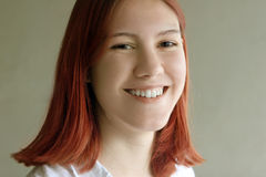 Redhead teenage girl. Smiling Royalty Free Stock Photo