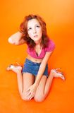 Redhead teenager fotografia stock