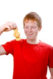 Redhead teenager wit  leftover .isolated Stock Images