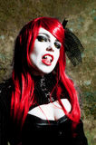 Redhead vampire Stock Photo