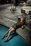 redhead vrouw royalty-vrije stock foto's