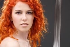 Redhead warrior Royalty Free Stock Photos