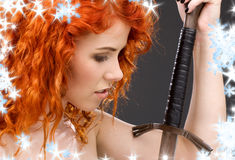 Redhead warrior Stock Photo