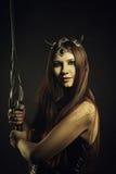 Redhead warrior Stock Photo