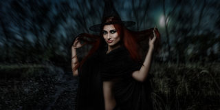 Redhead witch Stock Image