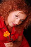 Redhead woman Stock Photos