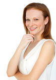 A redhead woman Royalty Free Stock Images