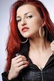 Redhead woman. Stock Photo