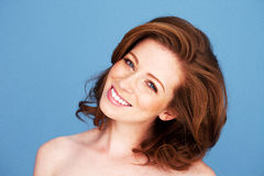 Redhead Woman With Beautiful Smile Stock Photo