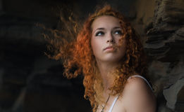Redhead woman. Royalty Free Stock Photos
