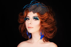 Redhead Woman Fashion Model Stock Images