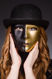 Redhead woman in hat Royalty Free Stock Photography