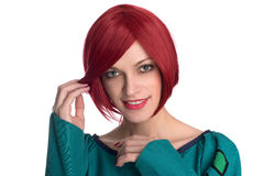 Redhead woman isolated Royalty Free Stock Photo
