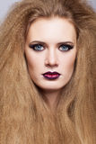 Redhead woman with long hair Stock Image