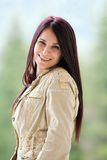 Redhead woman outdoor Royalty Free Stock Images