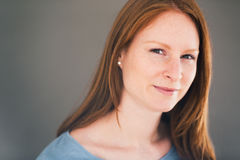 Redhead Woman Portrait Royalty Free Stock Photo